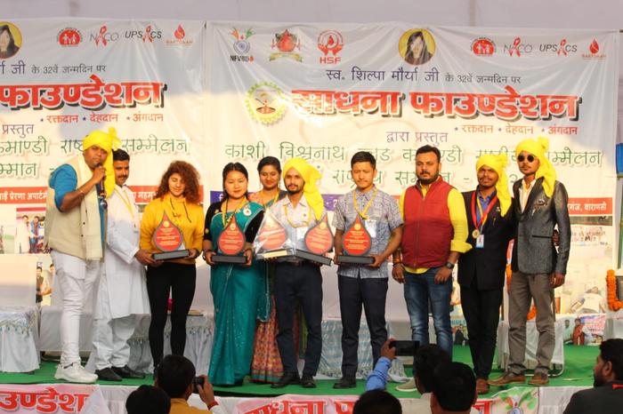 पूरे भारत के कुल 101 स्वैच्छिक रक्तदानी संगठनों को सम्मानित किया गया।