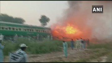 पाकिस्तान: ट्रेन के अंदर नाश्ता बना रहा था यात्री, सिलिंडर फटने से गई 62 की जान