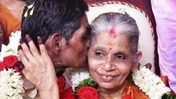 67 का दूल्हा, 65 की दुल्हन, ट्विटर पर ट्रेंड करने लगा यह नवदंपति