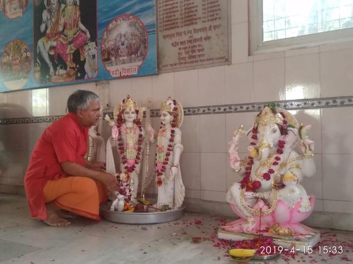 संकटहरण पंचमुखी हनुमान मंदिर में त्रिदिवसीय 12वां स्थापना दिवस समारोह प्रारम्भ
