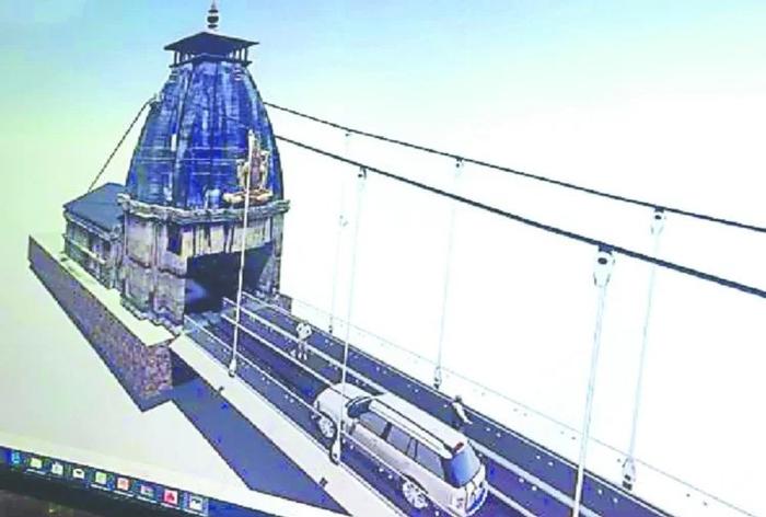 ऋषिकेश: थ्री लेन होगा नया लक्ष्मणझूला पुल, दोनों तरफ दिखेगी केदारनाथ मंदिर की झलक