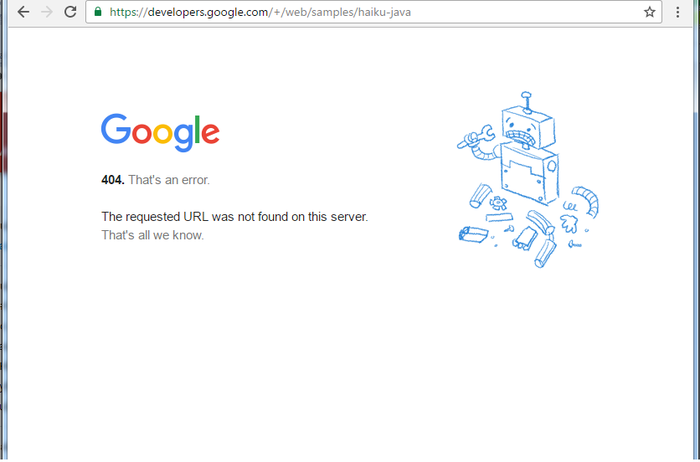 गूगल के वेबसाइट पैर भी ऐसे लिंक होते हैं जो नहीं खुलते !!